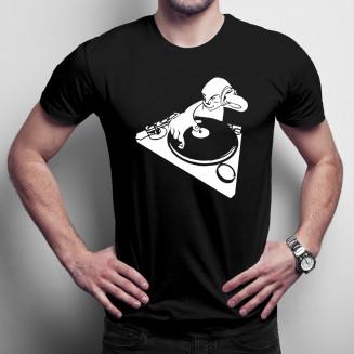 Smiley DJ - męska koszulka...
