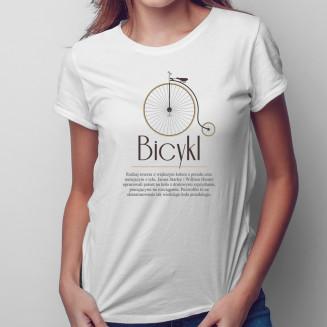 Bicykl - damska koszulka na...