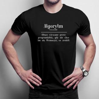 Algorytm - męska koszulka...