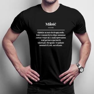 Miłość - męska koszulka na...