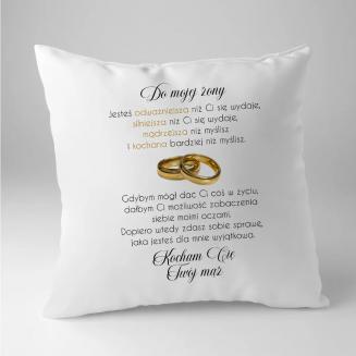 Do mojej żony - poduszka na...